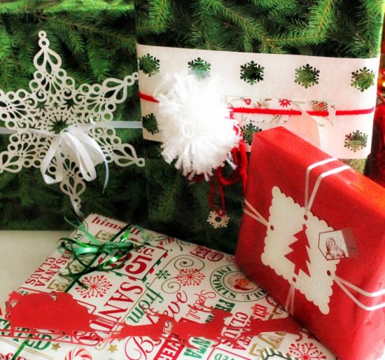 Christmas, wrapping gifts, presents, diy