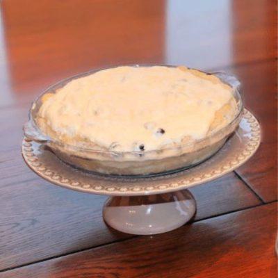 Lemon Blueberry Chiffon Pie