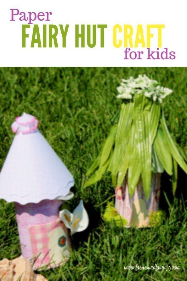 Fairy hut craft for children