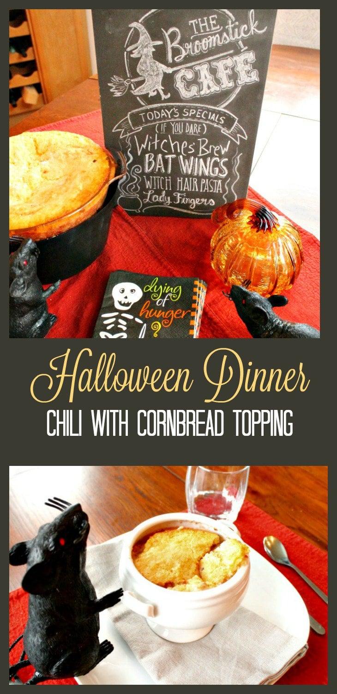 Halloween Dinner, Halloween dinner ideas, Chili recipes