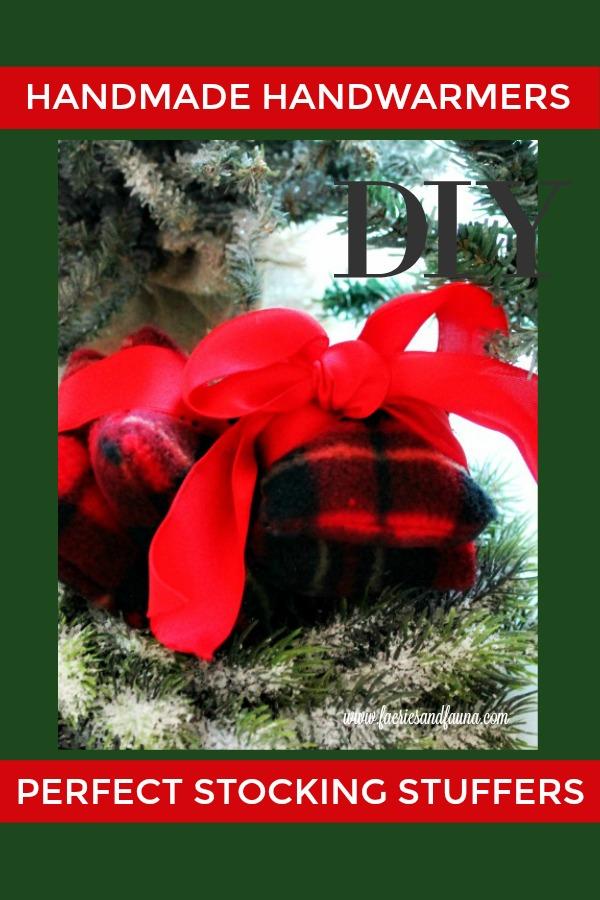 How to make DIY hand warmers for Christmas stocking stuffers.