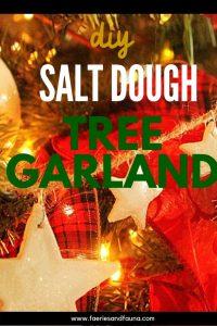 pretty sparkling DIY Christmas ornament star garland made using salt dough