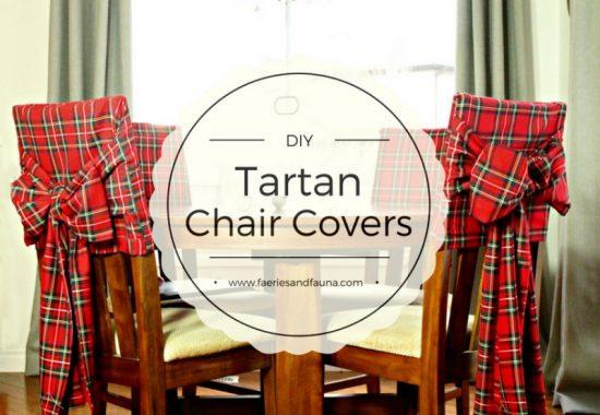 Diy Christmas Tartan Chair Covers Of Faeries Fauna Craft Co