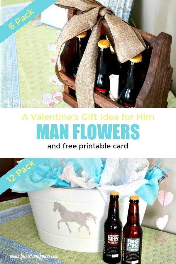 DIY valentine gift and DIY valentine card ideas for men