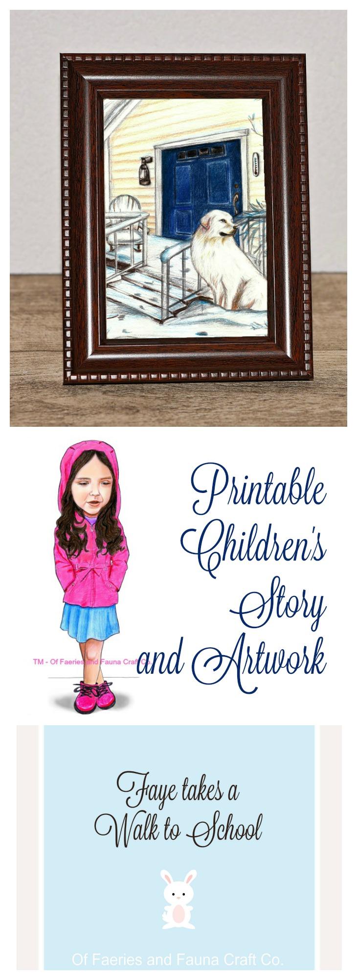Childrens story, Printable for children.