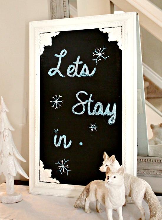 Winter Decor, Chalkboard