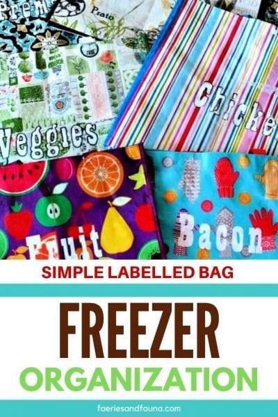 Easy, freezer organization on a budget.