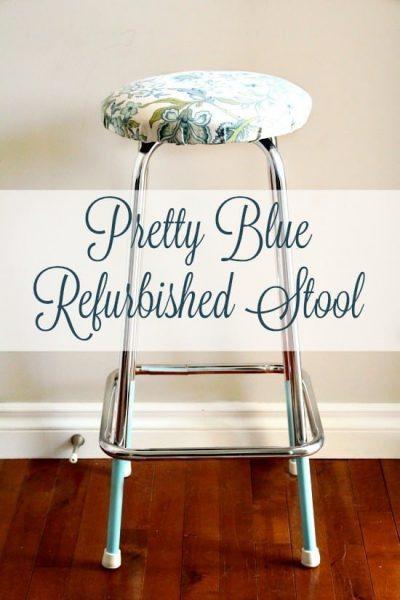 Upcycled Stool, Refurbished Stool, DIY Crafts, DIY Home Decor