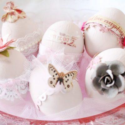 Very Feminine Easter Egg Decorations