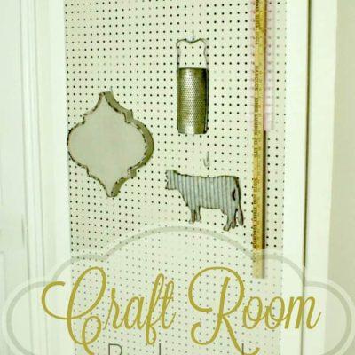 Full Length Craft Room Pegboard DIY