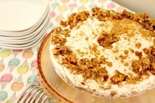 Maple walnut ice cream cake