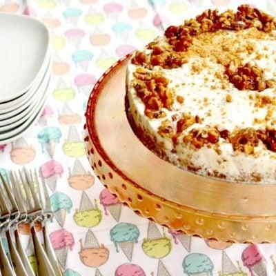 Maple Walnut Ice Cream Cream Cake Recipe