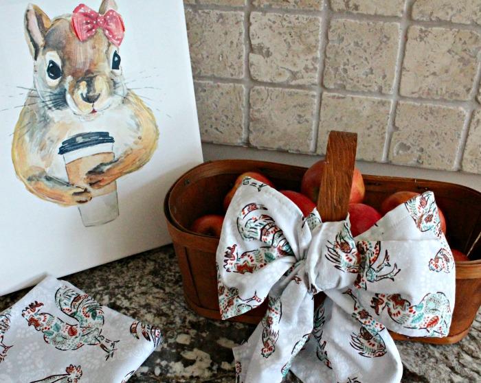 An refinished apple basket for fall decor.  Fall Basket Makeover, Vintage Baskets, Wood Basket, Farmhouse Basket