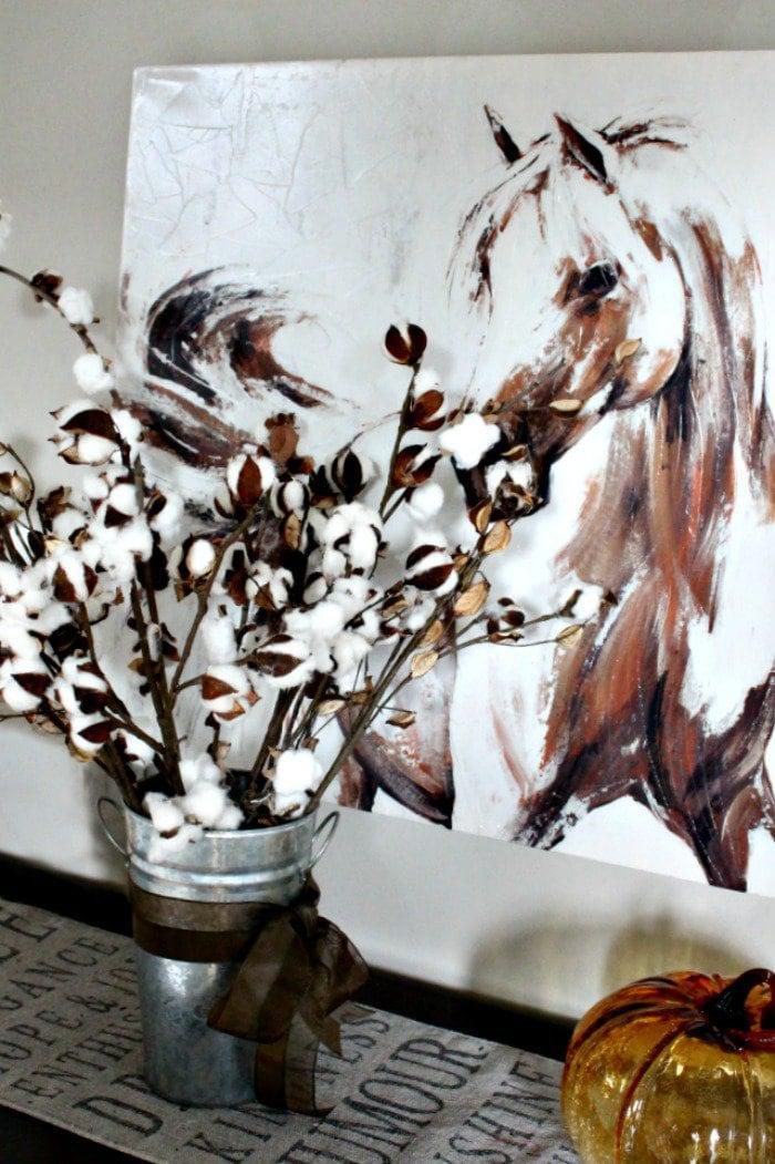 diy cotton branches, cotton pod, diy cotton stems, diy cotton bolls