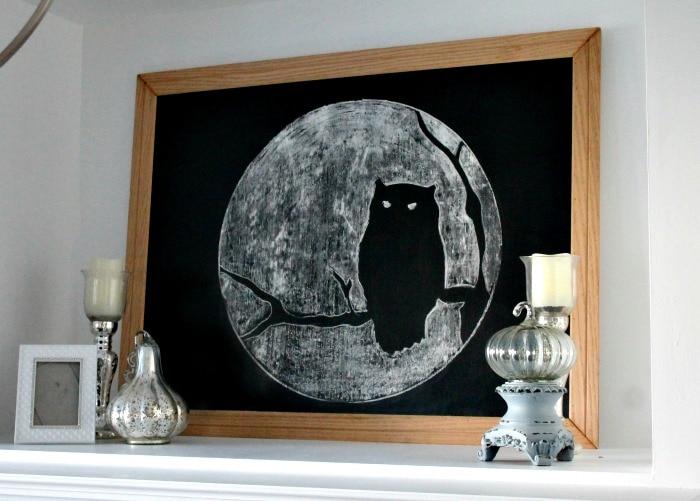 DIY Halloween Chalkboard Art