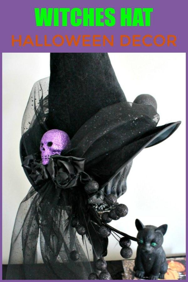 Elegant Halloween Witches Hat craft