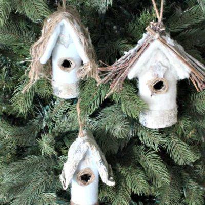 DIY Farmhouse Christmas Tree Ornaments with the Farmhouse Hens