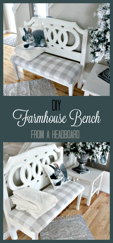 Headboard bench ideas, diy bench seat, diy headboard bench, how to make a bench from a headboard