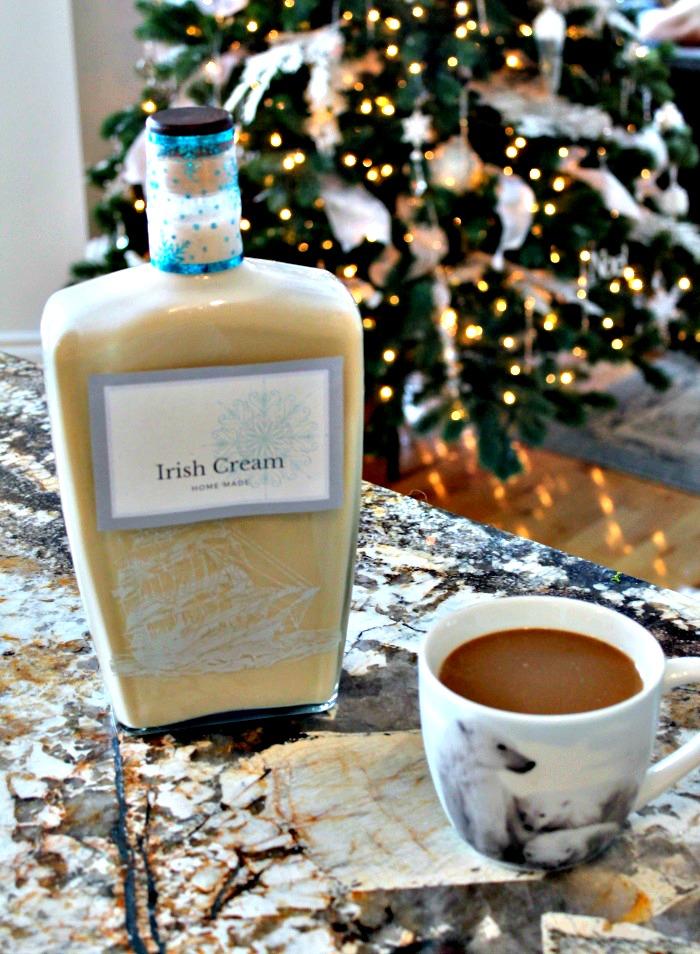 A large bottle of Homemade Irish Cream. An Irish Cream Liqueur recipe as good as Baileys Irish Cream Recipe, Irish Cream Recipe, bailey's recipes, Irish cream recipes