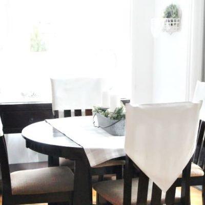 Elegant DIY Chair Back Covers