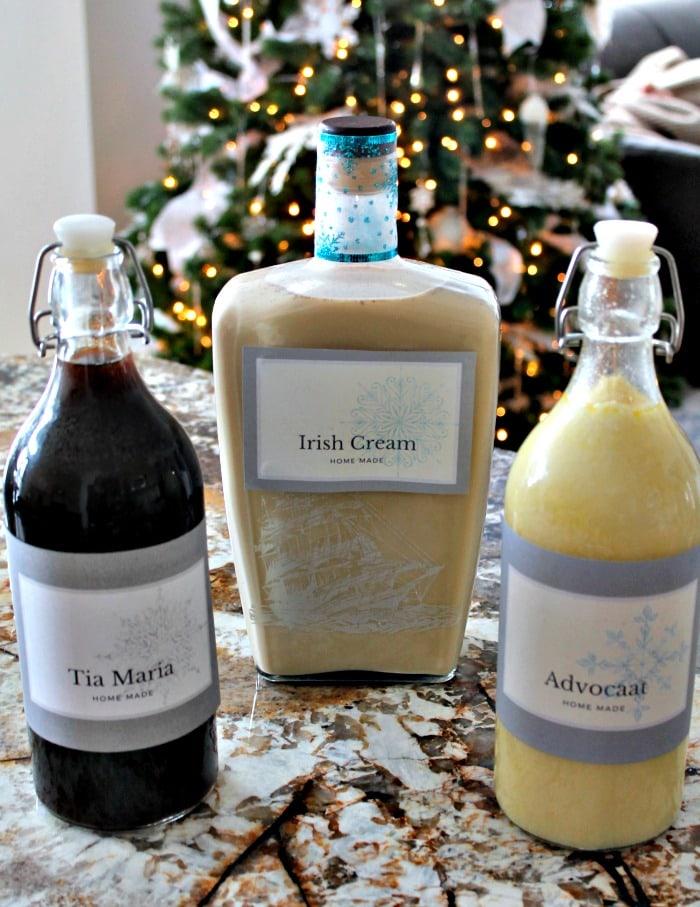 Three kinds of homemade Liqueurs including Homemade Irish Cream. ,Irish Cream Liqueur, Baileys Irish Cream Recipe, Irish Cream Recipe,, bailey's recipes, Irish cream recipes