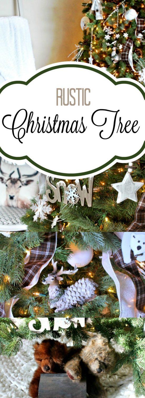 Christmas tree ideas, Christmas tree decorating ideas,christmas tree decorating, rustic Christmas tree