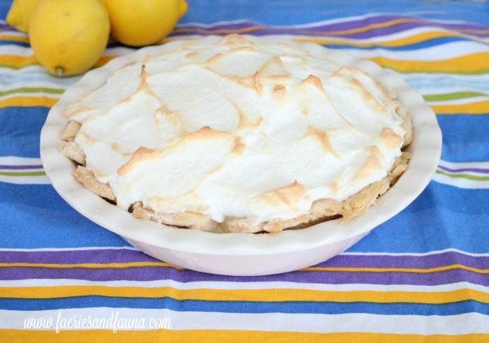 Lemon Meringue Pie with golden brown meringue.