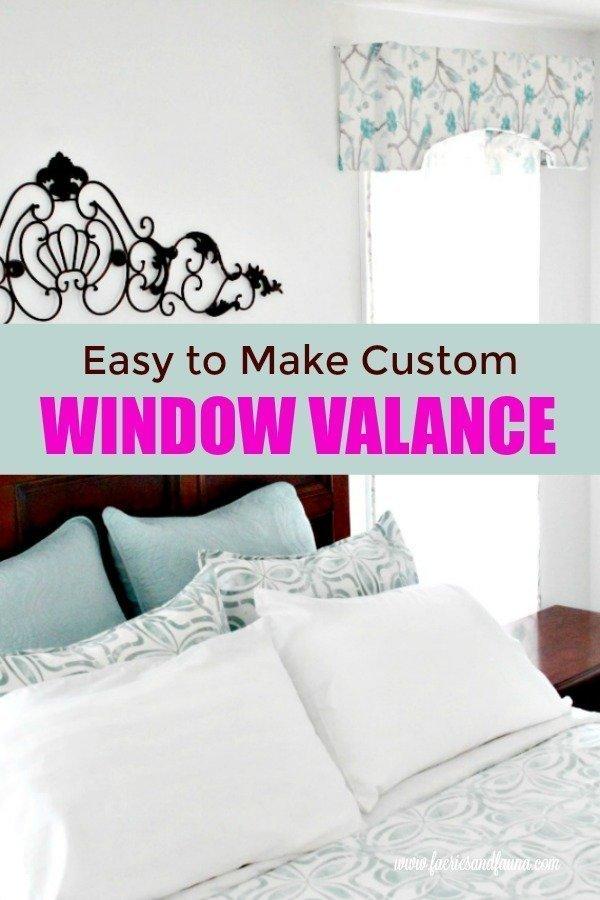 DIY Fabric covered window valance.