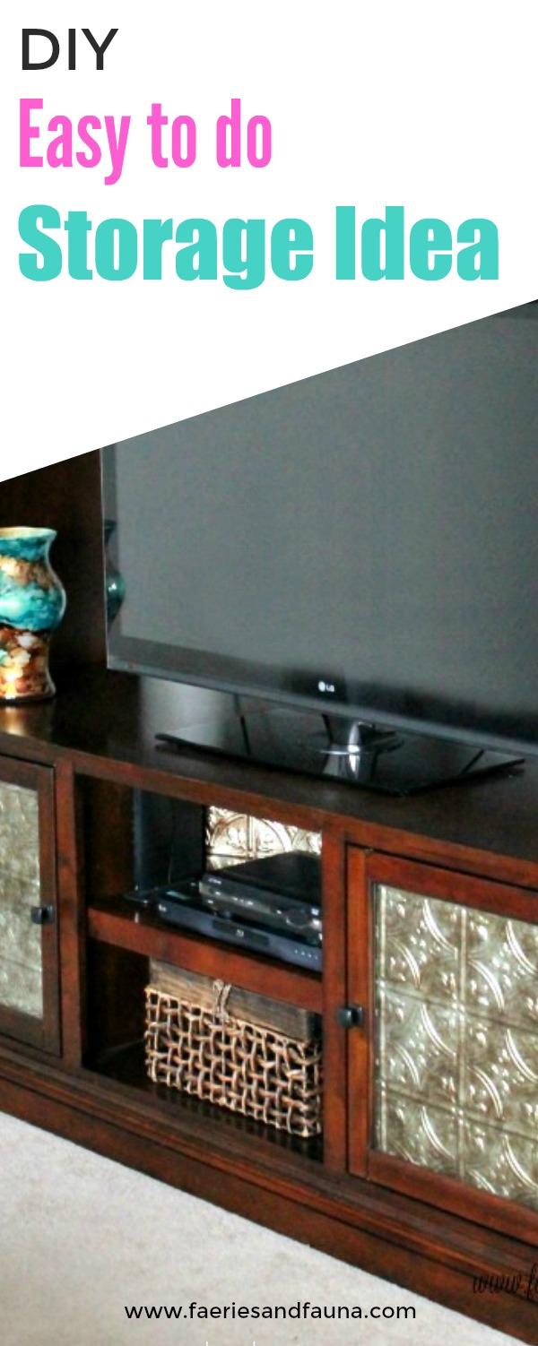 Easy to do storage solution idea for the livingroom.