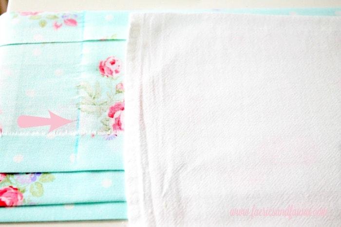How to make a tea towel apron, using the apron to measure the fabric.