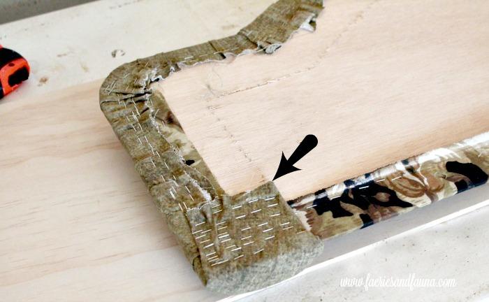 Back view of a RV headboard prior to receiving an RV interior, RV renovation,