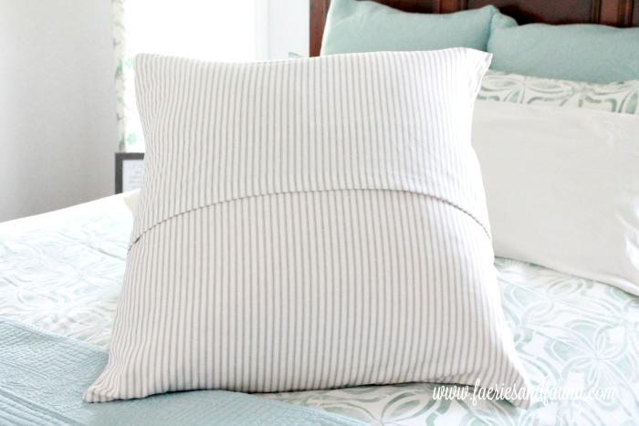 Backside of handmade European Cushion Cushion making, DIY cushion covers, DIYpillow, making pillow covers, cushion cover making, sewing pillow covers, envelope cover, DIY Cushion Covers