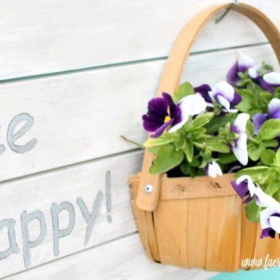 Bee Happy DIY Planter – The Farmhouse Hens Planter Ideas