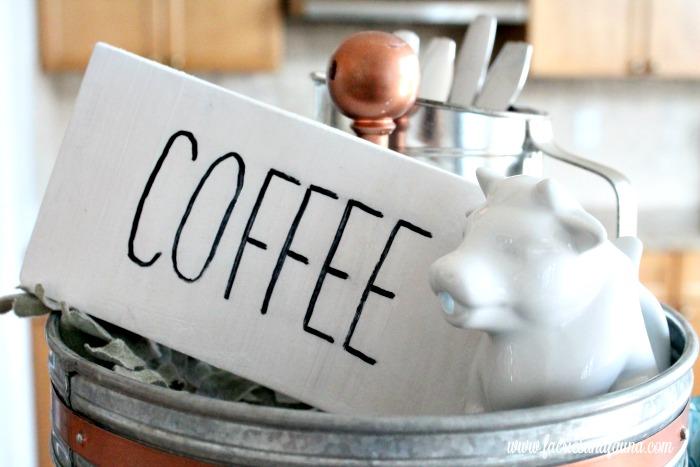 DIY Coffee Sign for a Coffee Bar