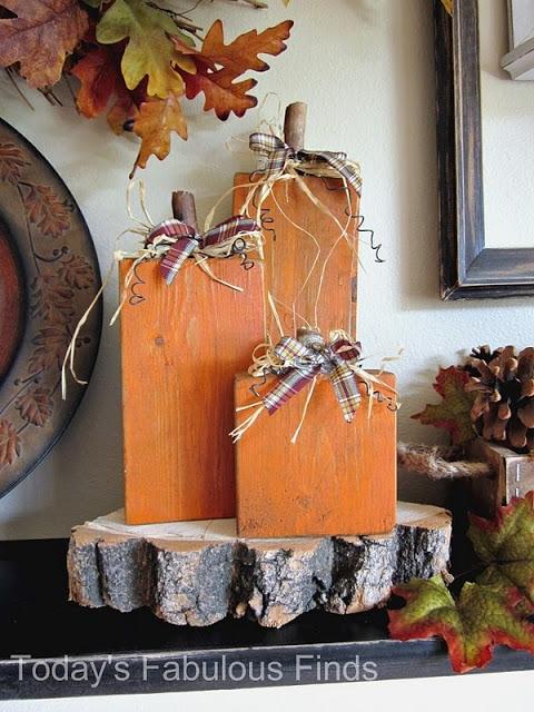 Wood Craft Pumpkins for fall.