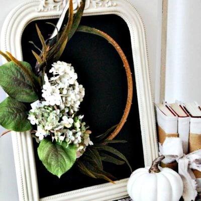 Printable and DIY Minimalistic Fall Wreaths