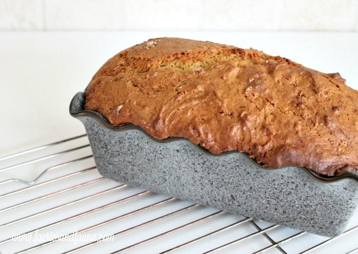 Homemade Pumpkin bread recipe. A not too sweet pumpkin dessert for fall.