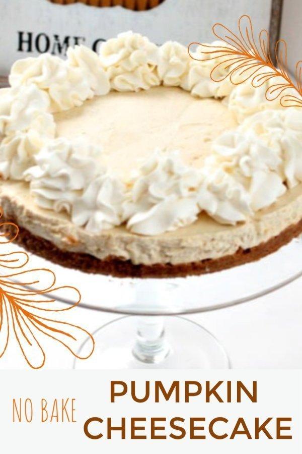 No Bake Ginger Crust Pumpkin Cheesecake Recipe