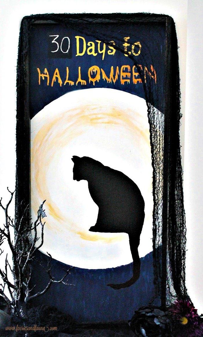Black Cat Halloween Countdown Calendar.
