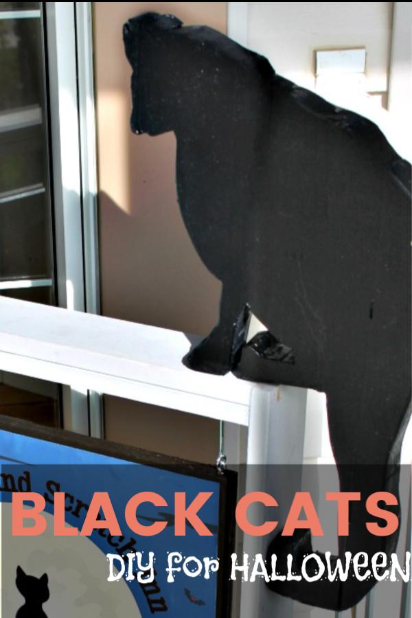 DIY Black Cats for Halloween