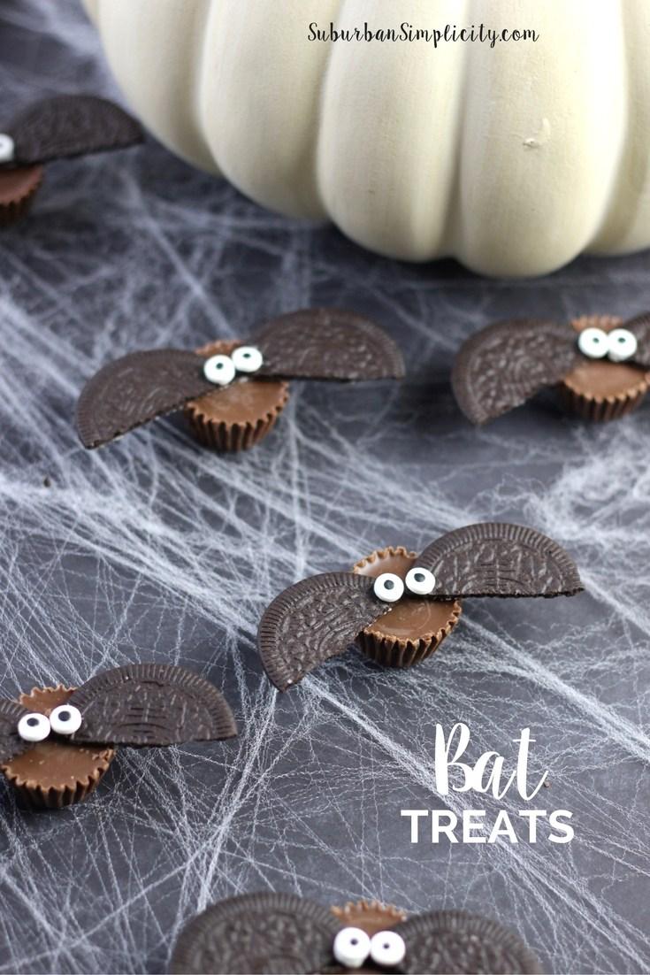 Easy to Make Bat Treats Halloween Treat for Kids