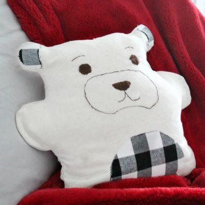 How to Make a Farmhouse Styled Pillow or Teddy Bear DIY Pajama Bag