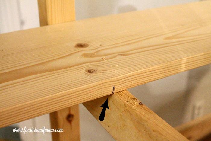 Measuring the shelf length of a DIY coffee bar cart