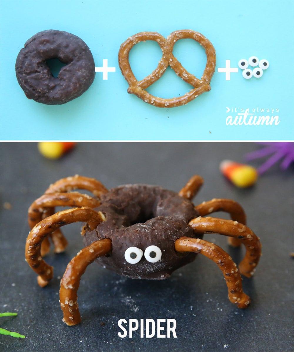 Easy Mini Donut Halloweem Treats for Kid