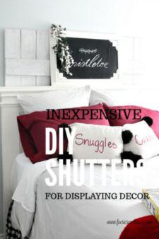 Inexpensive DIY Shutters for Christmas decor