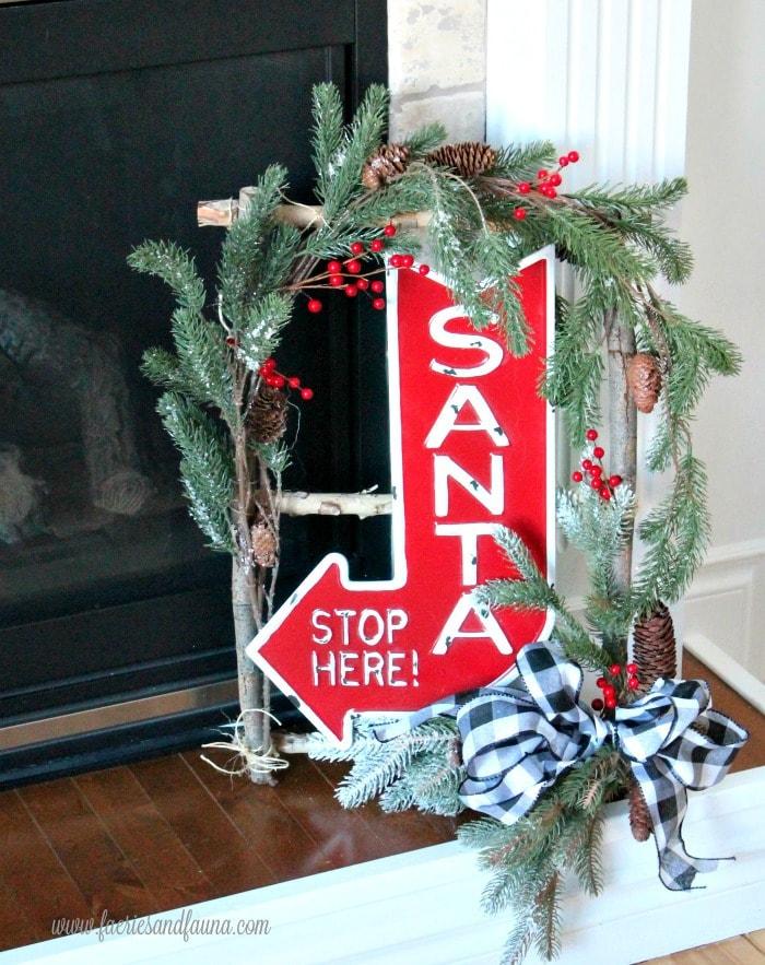 A white birch DIY twig wreath.