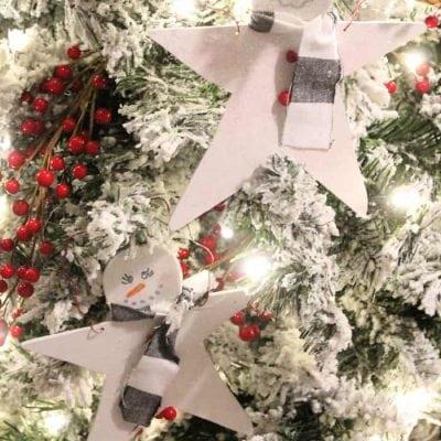 DIY Christmas Ornaments  Snowman Star