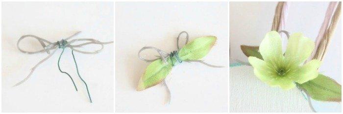 How to make a miniature bow flower arrangement