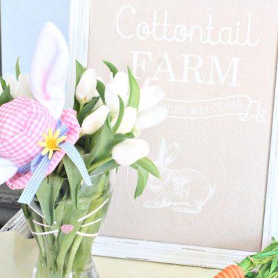 Make an Easy Adorable Flower Arrangement and Easy Easter Bunny Vase