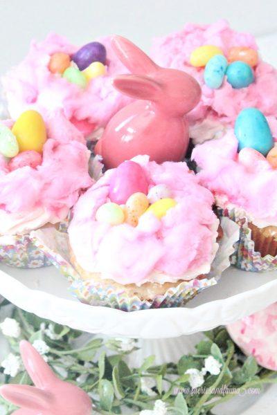 Strawberry Cupcake recipe decorated for children.